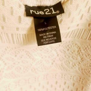 Rue 21 white eyelit lace dress